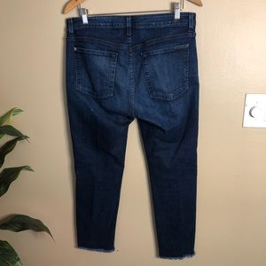 7 For All Mankind Jeans - 7FAMK High Waisted Raw Hem Ankle Straight